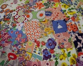 January Special Shabby Chic Fabrics, Vintage  feedsack Packet, Novelty, Feedsack Scrap Sampler, Fabric, Feed Sack Vintage B