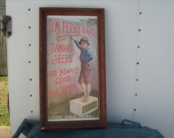 old D.M. Ferry & co. seed advertising framed poster