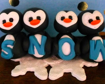 How do you spell winter polymer clay figurines