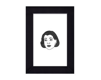 4 x 6 Framed Lucille Bluth / Arrested Arrested Development  Portrait