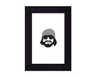 4 x 6 Framed Macho Man Randy Savage / WWE Portrait