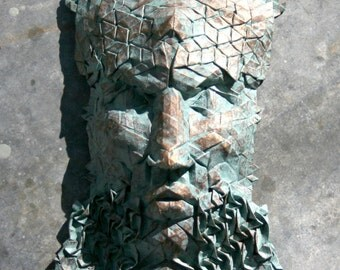 Poseidon - An ancient bronze made from paper