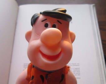 Vintage Fred Flintstone, 1960's 1970's Flintstones Character Doll, Vintage Plastic Toy, Hanna Barbera, Retro Television cartoon Figure, Fred