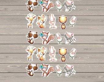 22 Tribal Animal Stickers, Fits Erin Condren Life Planner & Other Planners, Planner Stickers, Stickers, Animals