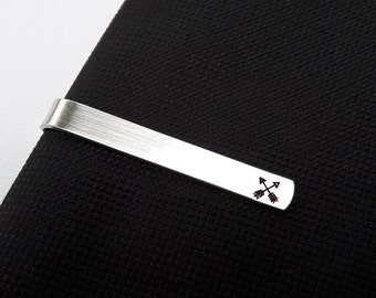 Arrow Tie Bar // Arrow Tie Clip // Friendship Archery // Hunter // Custom // Hand Stamped // Groomsmen Gift Gift for Dad