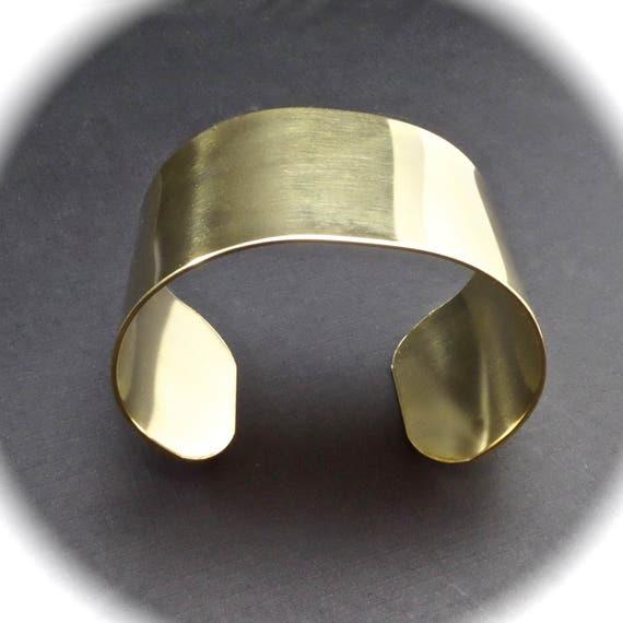 """5 Cuffs - 1-1/2"""" x 6"""" RAW Jeweler's Brass Bracelet Blank Cuff 18 Gauge  - Qty 5 - FLAT Blanks"""