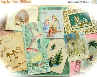 ONSALE One Dozen Antique Victorian Shabby Chic Early 1900s Christmas Cards Lot 67