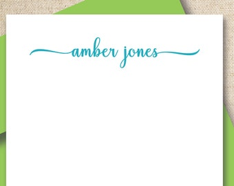 Personalized note cards / stationery