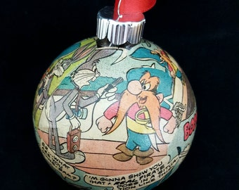 Looney Tunes Ornament, Bugs Bunny Ornament, Yosemite Sam Ornament, Looney Tunes Christmas
