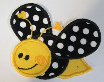 Bumble Bee Iron On or Sew On Embroidered Applique