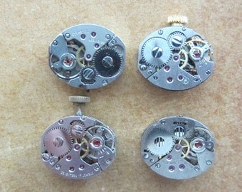 Steampunk watch parts - Vintage Antique Watch movements Steampunk - Scrapbooking B52