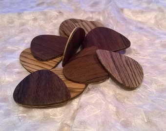 Wood Guitar Picks - Laminated - Free Shipping
