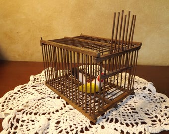 Antique Bird Cage / Miners Canary Cage / Pet Transport Cage