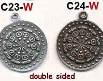 """NEPAL CHARM - 4 Pieces  Double Sided 1"""""""