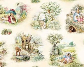 Dollhouse Miniature Shabby Chic Wallpaper Beatrix Potter Peter Rabbit 1:12