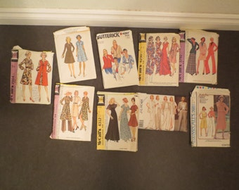 Vintage Sewing Patterns Lot of 9 SIZE 18 WOMENS Simplicity McCalls Butterick #6