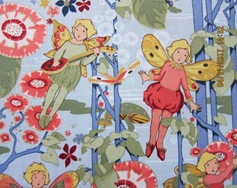 RARE FAIRY FABRIC Alexander Henry - Nicole De Leon - Fairies of Goldenwood - 1 Yard - L32