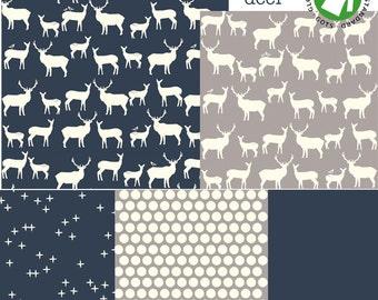 Baby bedding & Stokke bedding - Organic Deer collection - certified organic GOTS - Std crib or Stokke - Choose your fabrics