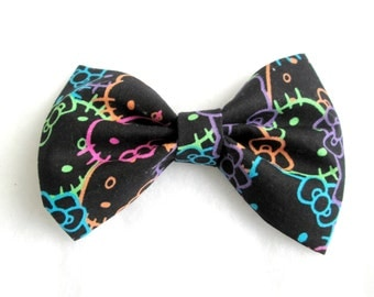Hello Kitty Inspired Patterned Fabric Bow