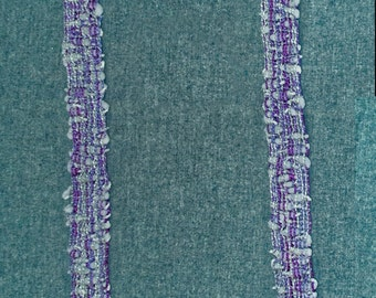 Women's Scarf, Purple and Pastel Blue Handwoven