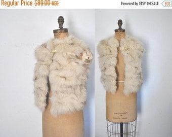 25% OFF Fox Fur Vest / silver white / XS