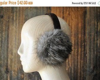 25% OFF Fur Earmuffs / ear warmer / gray brown