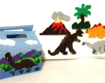 Plastic Canvas Dinosaur Play Set