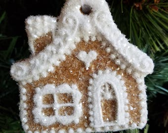 Gingerbread House Christmas Ornament Gift--READY TO SHIP