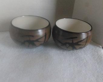 Vintage OMC Japan Sake Tea Cups, Japanese Tea Cups set of 2