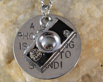 A Good Photograph is Knowing Where to Stand Camera Necklace