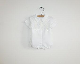 Vintage White Baby Romper
