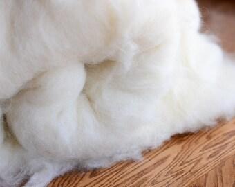 Wool Stuffing, Wool Batting, Wool Filling, Wool for Felting, Newborn Photography Prop - One pound