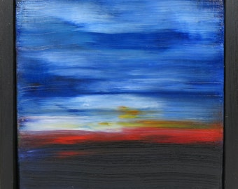 Element of Peace in the Distance oil painting abstract canvas landscape seascape serenity dreamscape valentines day coastal