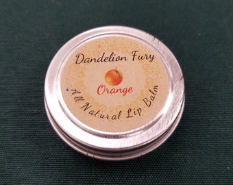 All Natural Orange Lip Balm Tin