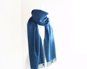 Cashmere Scarf Teal Handwoven 20 x 80 This item is Sold at KOBO, thank you!