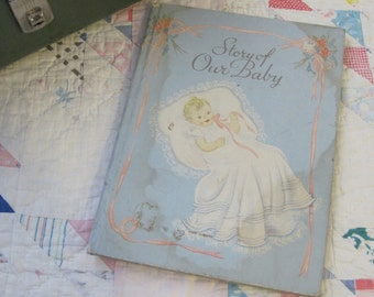 Sweet and Shabby Vintage 1941 Baby Book by Junceau