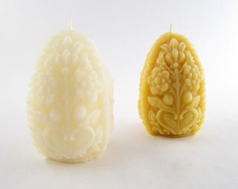 Beeswax Solid Detailed Egg Candle