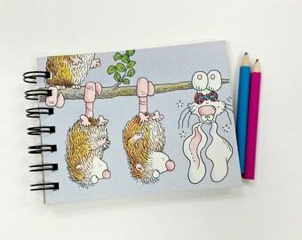 PJ Funny Bunny, Upcycled mini notebook