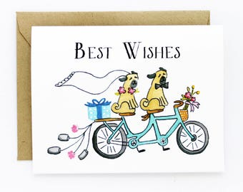 Wedding - Best Wishes Card - Just Married Congratulations