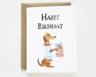 Birthday Card - Dachshund Birthday Card