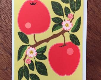 Apple Pair Note Card