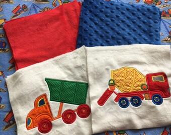 NEW! Big Builders Minky Blanket or Kit