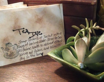 Tea Dye~Tea Stain Packets~Paper/Fabric Staining~Stationary Tuck in~Dye Packets~DIY Projects~Milady Leela