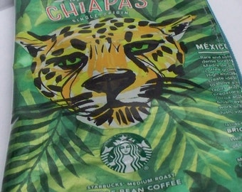 Pencil Case Cosmetic Case from UPCYCLED Starbucks Mexico Chaipas coffee bag RECYCLED
