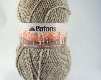 DeStash: Patons Classic Wool Dark Natural Mix