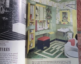 The American Woman's New Encyclopedia of Home Decorating by Helen Koues  mid century ideas!