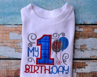 First Birthday Boy Shirt...Birthday Boys Shirt....First Birthday Shirt