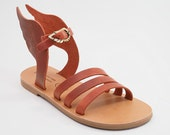 "Sandals with wings - Natural - Greek Leather sandals-gladiator sandals ""Hermes"""