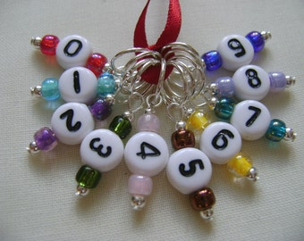 Counting Stitches Stitch Markers for Knitting or Crochet