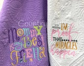 Personalized keepsake, best baby gift EVER! Monogrammed Baby Quilt - Personalized Embroidered Baby Blanket Purple, Mommy is my best friend